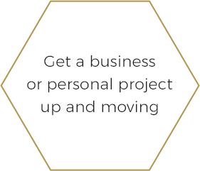 Get a business or personal project up and moving